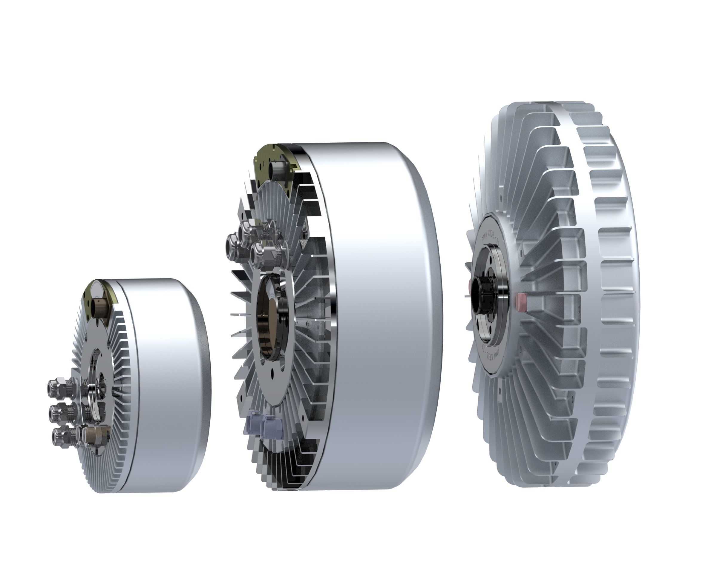 Side By View Of Direct Drive In Wheel Electric Motors Xr20 12